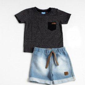 4037 3 grafite e shorts jeans