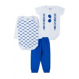 8a64620a2 Kit Boby Bebê Oculos - Branco e Azul
